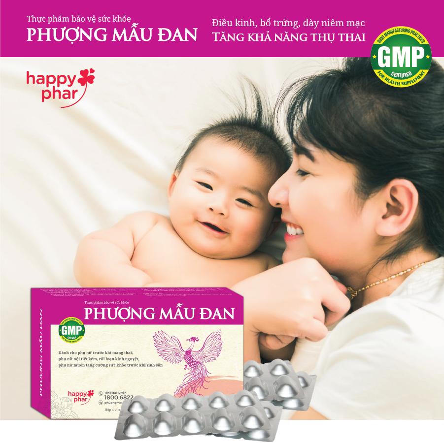 Phượng Mẫu Đan là viên uống bổ trứng, đều kinh, dày niêm mạc tăng khả năng đậu thai duy nhất trên thị trường chưa thành phần Nhục thung dung quý hiếm!
