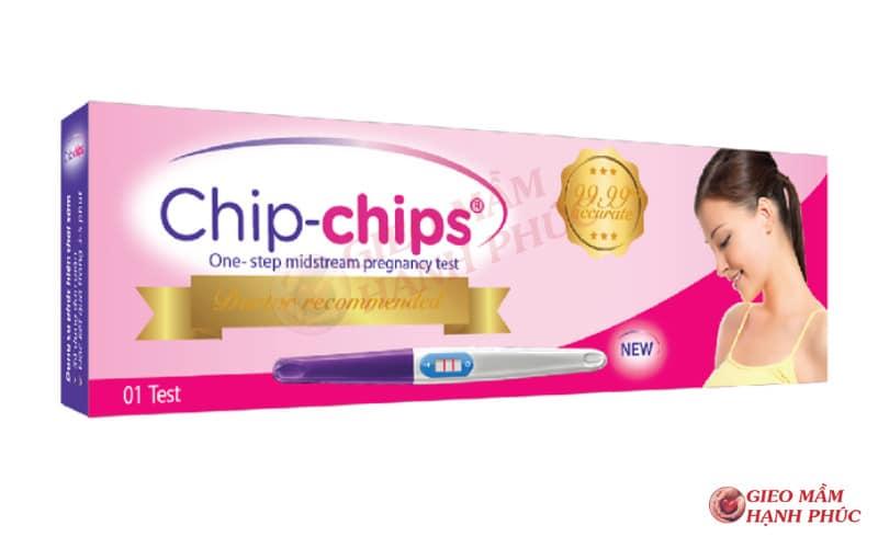que thử thai chip chip