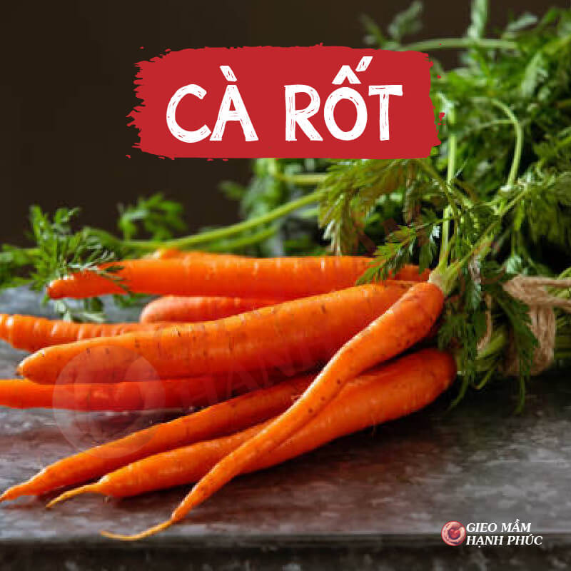 Thực phẩm làm dày niêm mạc tử cung: Cà rốt